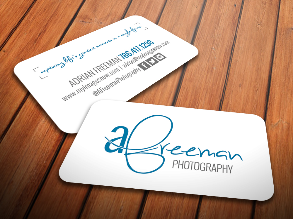 A. Freeman Photography Business Card - Notion Motion LLC