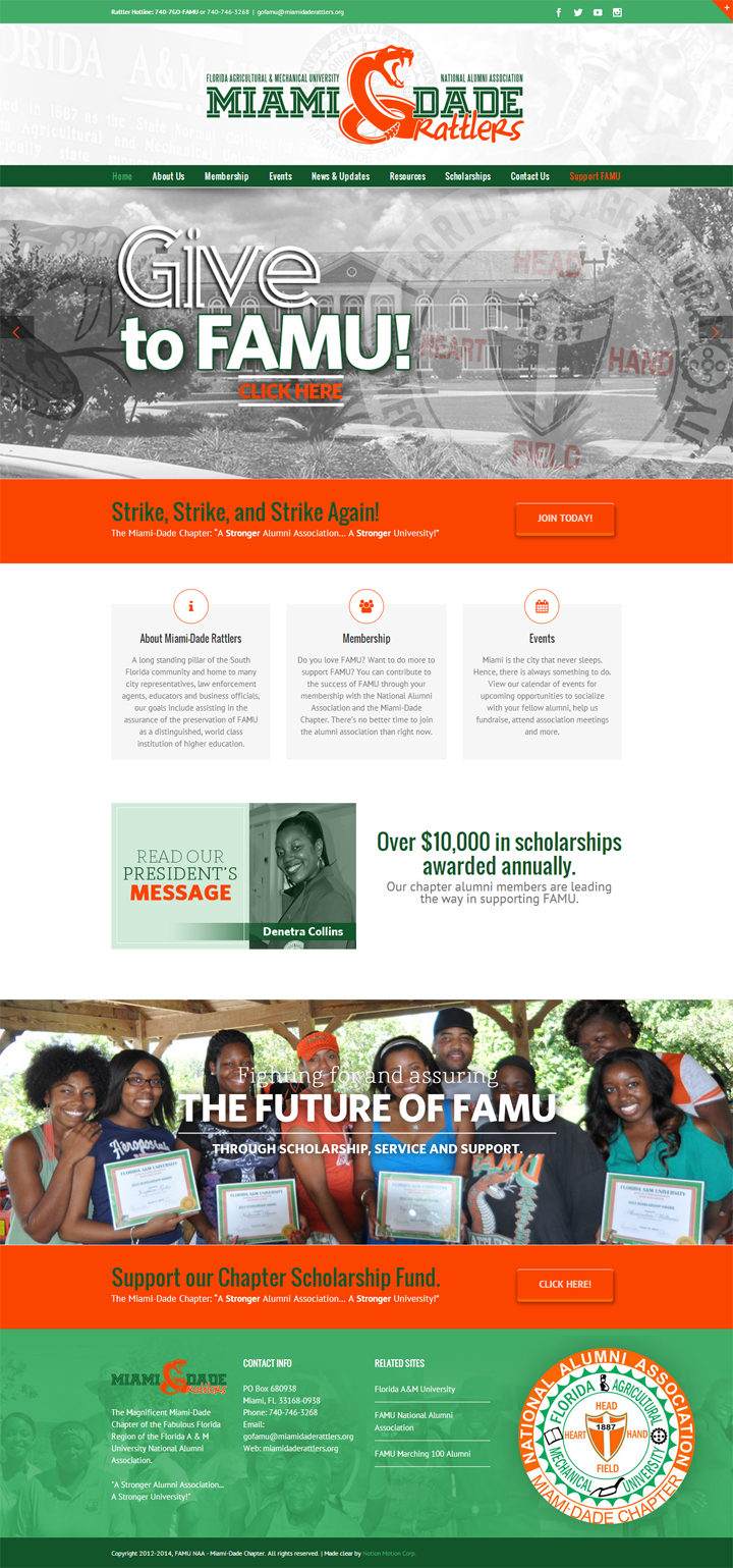 screenshot-FAMU-Alumni-Miami-Dade-Rattlers-website